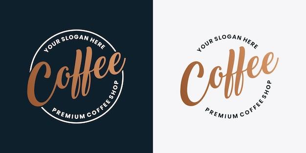 Distintivo di design del logo della caffetteria in stile vintage