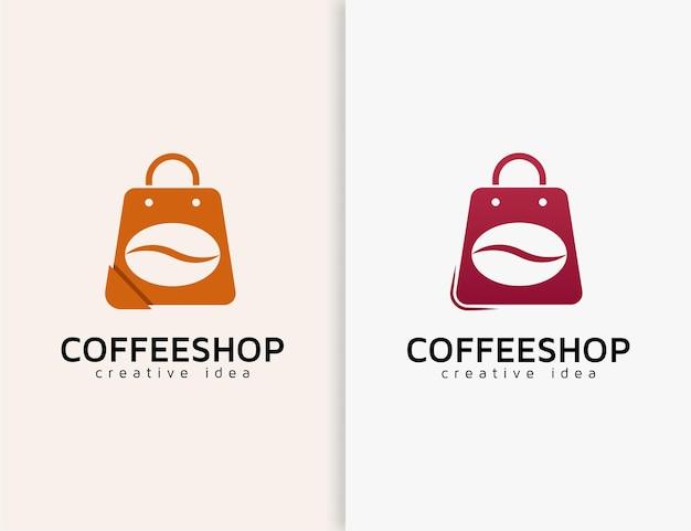 Modello di progettazione del logo della caffetteria