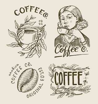 Logo ed emblema della caffetteria