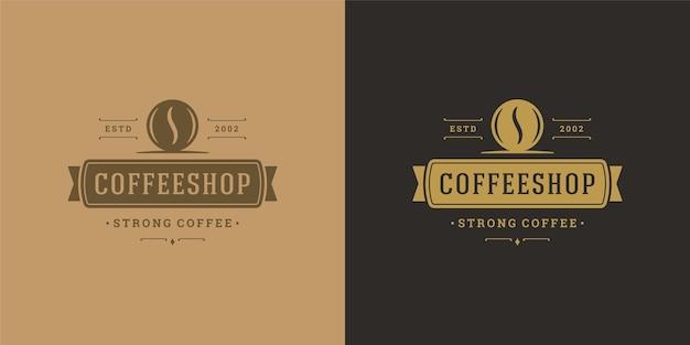 Illustrazione del modello di logo della caffetteria