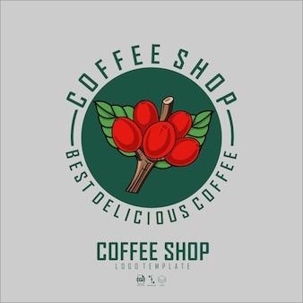 Modello logo negozio caffè