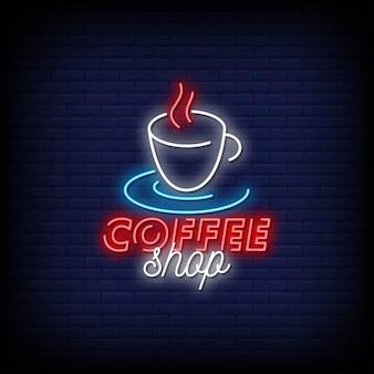 Insegne al neon della caffetteria