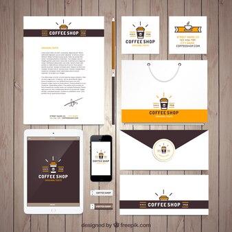Coffee shop stationery set