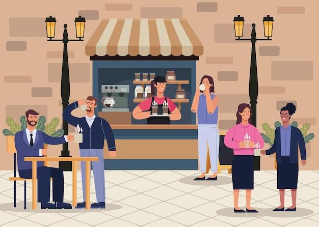 Caffetteria in strada