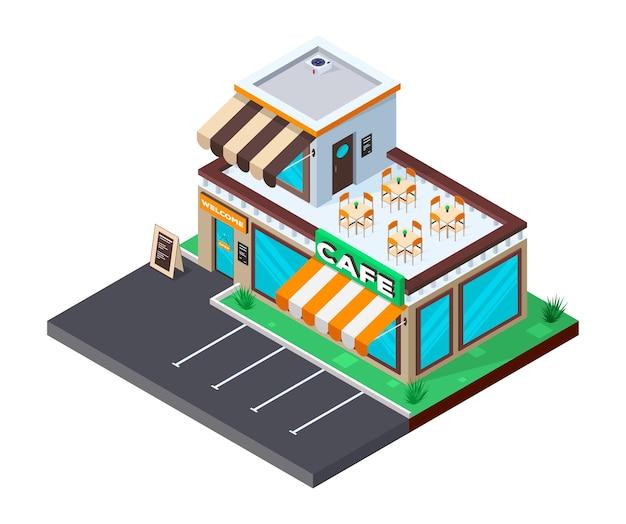 Caffetteria con parcheggio