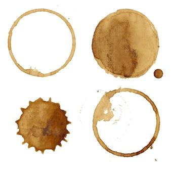 Collezione di macchie di caffè