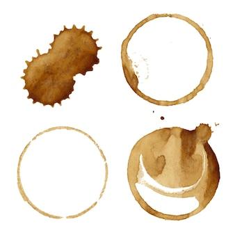 Set di macchie di caffè
