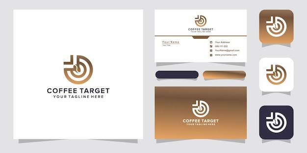 Logo e biglietto da visita del target del caffè