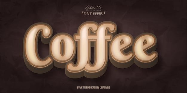 Testo caffè, effetto carattere modificabile