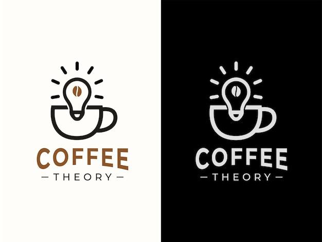Concetto di design del logo della teoria del caffè