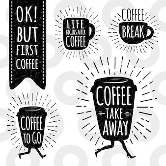 Set di caffè alla moda.