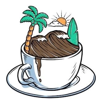 Onde di caffè