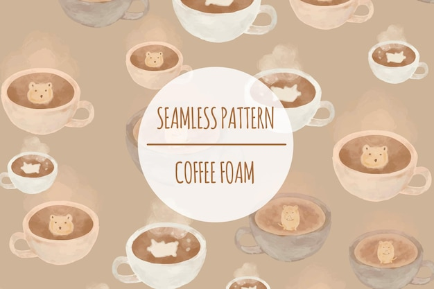 Coffeetaria seamless pattern premium