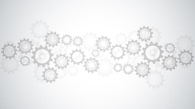Ingranaggi e meccanismi della ruota dentata. tecnologia e ingegneria digitale ad alta tecnologia. background tecnico astratto.