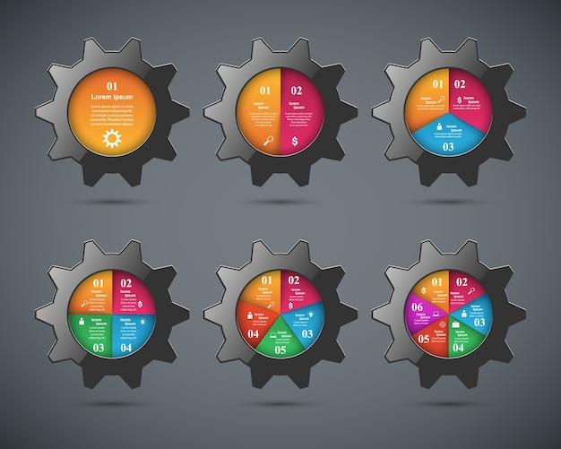Cogwheel, icona dell'ingranaggio. infografica aziendale