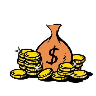 Borsa di monete bancarie