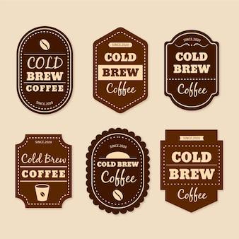 Etichette di caffè freddo