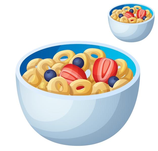 Cereale freddo isolato su bianco.