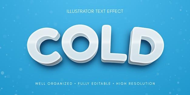 Illustrazione di effetto di testo modificabile a freddo