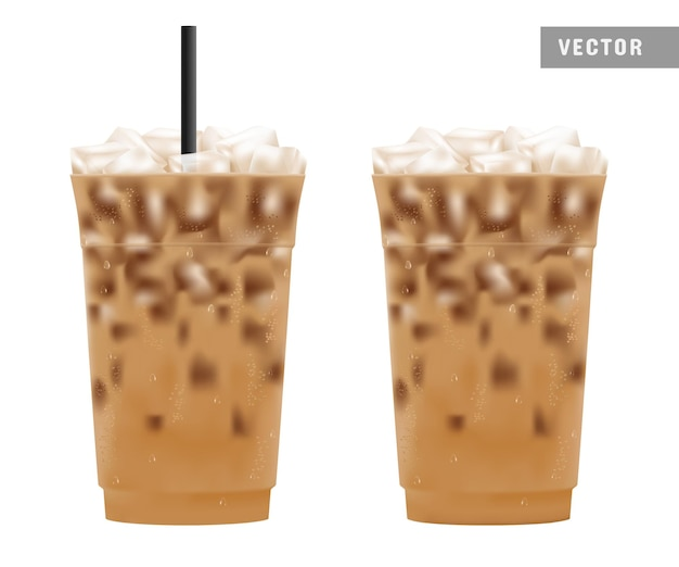 Caffè freddo ghiacciato in confezione di plastica