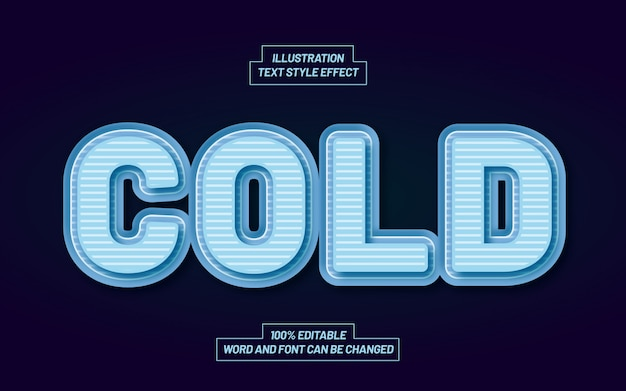 Effetto di stile testo neve fredda