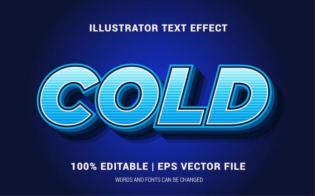 Stile di effetti del testo freddo