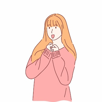 Cartone animato di abbigliamento per il freddo