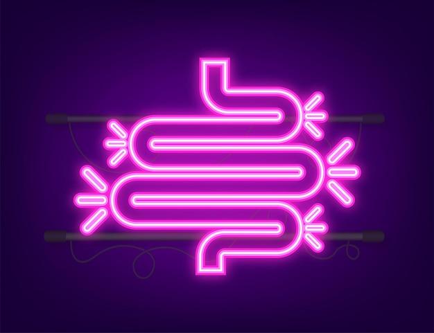 Colite per la progettazione medica gastroenterologia disegno dell'icona di costipazione intestinale assistenza sanitaria