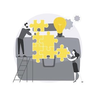 Illustrazione di concetto astratto di collaborazione. Vettore Premium
