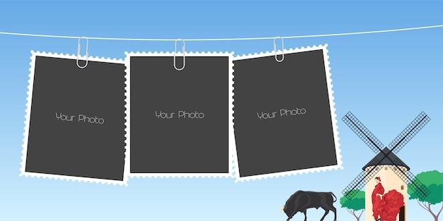 Collage di cornici per foto illustrazione