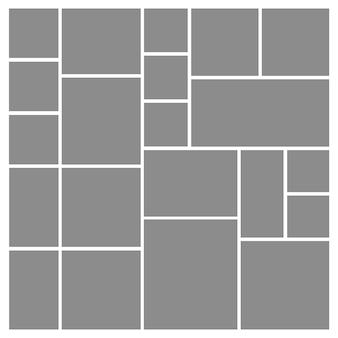 Collage foto mosaico moodboard griglia fotomontaggio