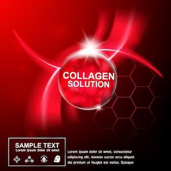 Siero di collagene e vitamina per il concetto di prodotti per la cura della pelle.
