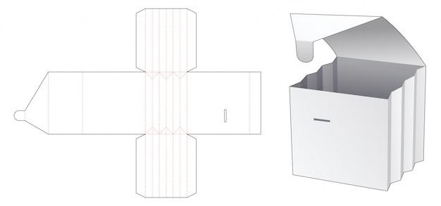 Modello fustellato scatola pieghevole