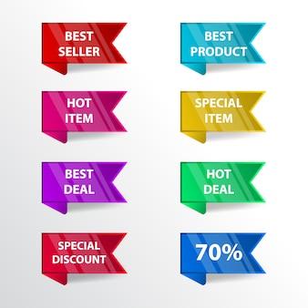 Tag etichette di etichette di sconto vendite collezionabili