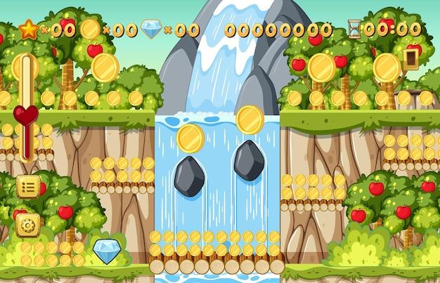 Modello di gioco platform per la raccolta di monete