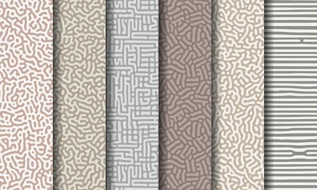 Raccolta di pattern astratti senza soluzione di continuità