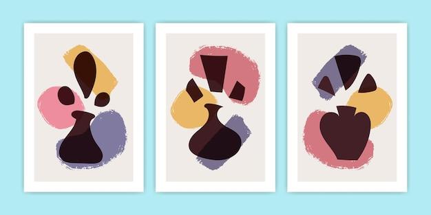 Collezione di illustrazioni di poster di vasi astratti