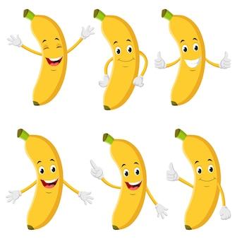 Raccolta di illustrazioni di banana