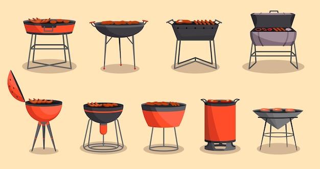 Collezione di barbecue o barbecue