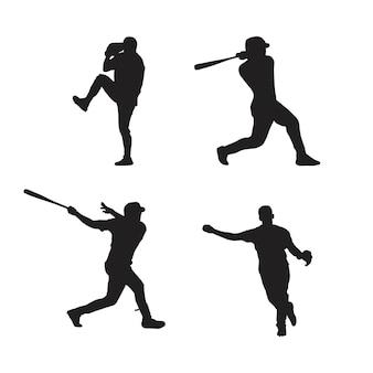 Collezione di sagome di giocatori di baseball