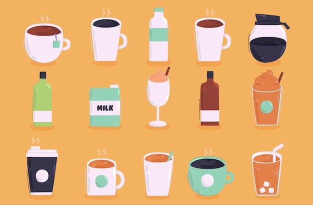 Raccolta di illustrazione di bevande
