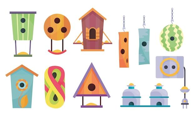 Collezione di case per uccelli
