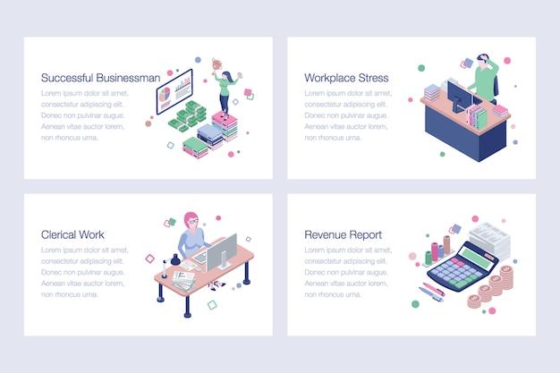 Raccolta di illustrazioni vettoriali di affari