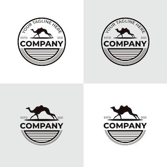 Collezione di ispirazione per il design del logo del cammello