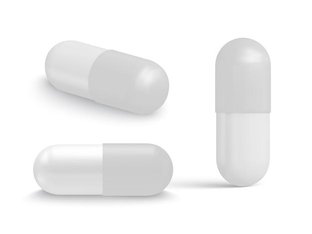 Collezione di compresse a forma di capsula