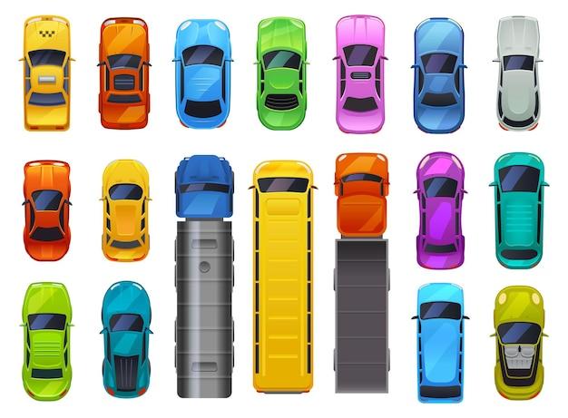 Collezione di automobili isolato su bianco