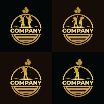 Collezione di design del logo dei sogni dei bambini