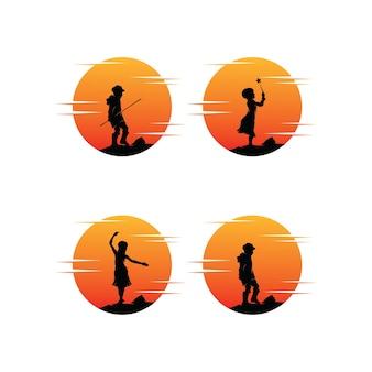 Collezione di logo di sogni di bambini