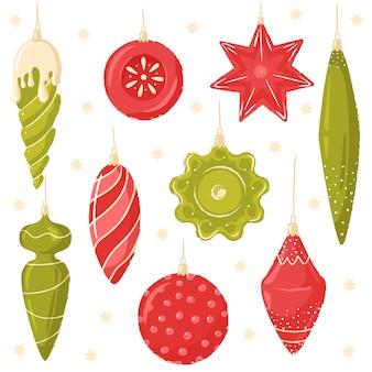 Collezione di decorazioni natalizie set di giocattoli per l'albero di natale