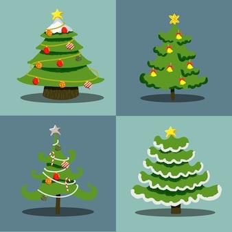 Raccolta di ornamento per albero di natale